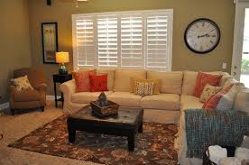 family room decorating ideas. Small Family Room Decorating Ideas With Carpet Design And Large Wall Clock