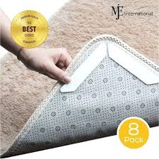 rug grippers for carpets anti curl amp slip 8 piece reusable strong gripper set all pad