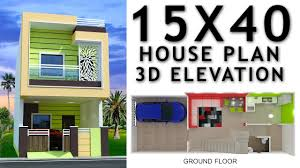 15 X 40 House Design 15x40 House Plan With Car Parking And 3d Elevation By Nikshail