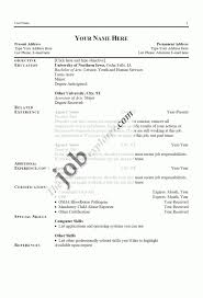 Targeted Resume Vs General Air Force Example Styles Cv Template