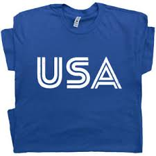 Details About Usa Letters T Shirt Vintage American Flag Patriotic 80s Soccer Patriotic Tee