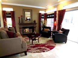 furniture and living rooms. Living Room Palette Idea - Black Furniture, Maroon Accent Wall With Tan Walls And Gold Furniture Rooms R