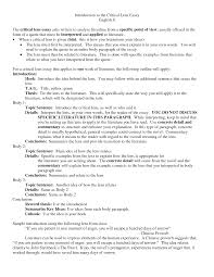 essay introduction examples best photos of write an best photos of critical essay examples sample critical