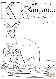 Small Picture K is for Kangaroo coloring page Free Printable Coloring Pages