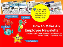 Employee Newsletter How To Make An Employee Newsletter Creating Employee Newsletters Ma