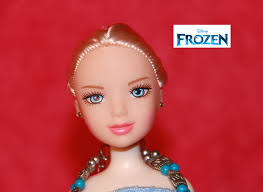 frozen elsa makeup tutorial hair braid dress up costumes for kids children barbie doll a disney