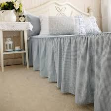 quality european blue plaid bedspread tribute silk cotton bedding princess bedroom bed sheet le processing bedspreads burdy bedspreads daybed