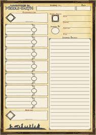hero forge character sheet custom character sheets for adventures in middle earth dndnext