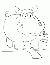Small Picture Baby Hippo Coloring Pages Coloring Home