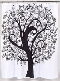 tree of life fabric shower curtain home kitchen design ideas