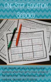 one step equation sudoku game