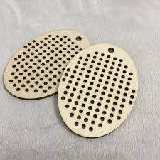 large oval blanks wood needlecraft pendant necklace or earrings hdug40339