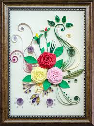 Paper Quilling Rose Flower Basket Tripals Eu Quilling Three Roses