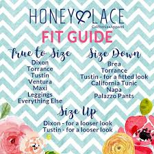 Honey And Lace Fit Guide Facebook Graphic Honey Lace