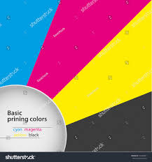Abstract Background Basic Printing Colors Cyan Stock Vector