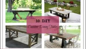 easy diy outdoor dining table. 10 awesome diy outdoor dining table ideas easy diy