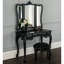 La Rochelle Black Antique French Dressing Table Set French