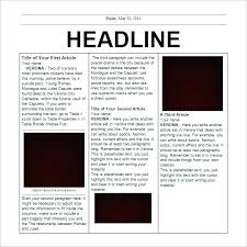 How To Create A Newspaper Template On Microsoft Word Editable Free News Paper Template Format Ms Word Newspaper