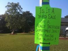 Make A For Sale Sign Yard Sale Signs The Good The Bad And The Ugly Garage