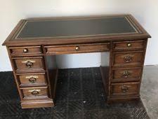 sligh furniture office room. Vtg Hard Wood Sligh Furniture Leather Top Knee Hole Desk Office Room