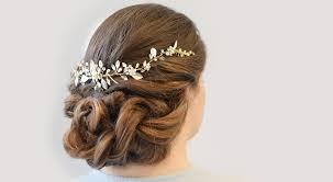wedding hairstyles idea braided bun hair vine