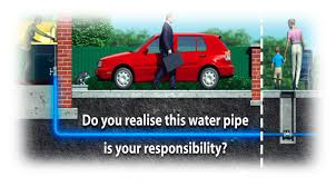 do you realise this water pipe is your responsibility underground y87