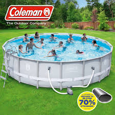 above ground pool walmart. Simple Above Coleman 18 And 39 X 48 White Steel Frame Ladder Above Ground Pools  Walmart Pool D