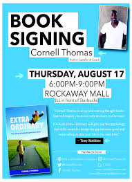 book signing flyer book signing rockaway mall cornell thomas