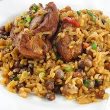 trinidadian pelau a one pot caribbean dish that was featured on diners drive