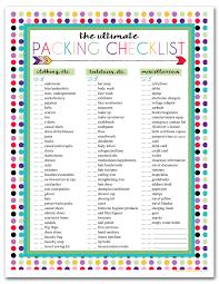 Printable Travel Checklist Under Fontanacountryinn Com