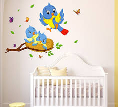 Small Picture Buy Generic DIY Red Flowers Birds Nature Wall Stickers Vinyl