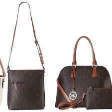 vk collection monogram logo vegan leather handbags
