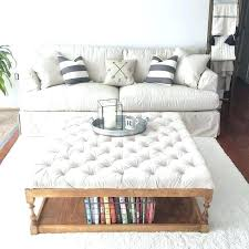 tufted coffee table ottomans tufted coffee table ottoman coffee table exciting white and brown square farmhouse tufted coffee table ottomans