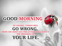 Good Morning Moving On Quotes Best Of OF Course Things Will Go Wrong Move On Do Not Let The Little Snags