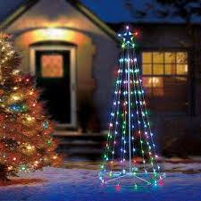 Outdoor christmas lighting Solar 130light Rgb Led Multicolor Color Blast Remote Controlled Cone Home Stratosphere Color Changing Lights Christmas Yard Decorations Outdoor