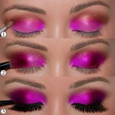 you can use some bold black liners and you can also use some glittery effects for various types of colours you need to choose the palette of eye shadow