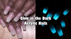 Acrylic Nails Glow In The Dark Nails French Ombre Baby Boomer Nails Longhairprettynails