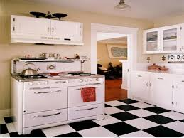 Retro Kitchen Flooring Miraculous Small Modern Black And White Kitchen Floor Small