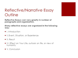the essay ppt  9 reflective narrative essay outline