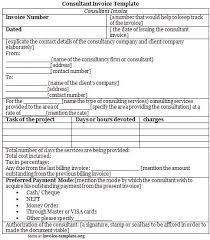 Consultant Invoice Template Invoice Templates