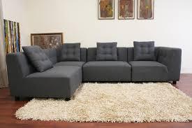 Alcoa Gray Fabric Modular Modern Sectional Sofa