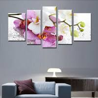 free shipping 5 pcs modern wall painting purple pink flower home decorative art picture paint on canvas prints wall pictures for living room on floral wall art australia with purple floral canvas wall art australia new featured purple floral