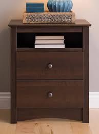open shelf nightstand. Beautiful Nightstand Prepac EDC2428 Fremont 2 Drawer Nightstand With Open Shelf Espresso Tall Intended Shelf E