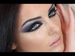 haifa wehbe arabic makeup tutorial blue smokey eye هيفاء وهبي مكياج سموكي you