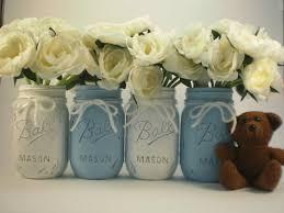 Decorating Mason Jars For Baby Shower Baby Shower Centerpiece Mason Jar Centerpiece by lilpumpkincrafts 26