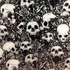 Hydro Dipping Patterns Impressive SKULLS AND ROSES SKULL 48cm Hydrographic Film Hydro Dip Store