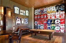 sport corner man cave decor. Sports Decor For Man Caves Framed Jerseys From Themed Teen Bedrooms  To Sophisticated . Sport Corner Cave C