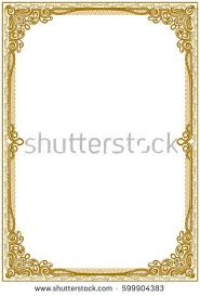 vintage frame border. Vintage Frame Border For Diploma Of Certificate G