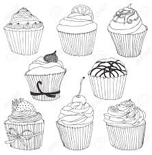 cupcake drawing black and white. Plain White Cupcake Drawing Black And White  Google Search Intended Cupcake Drawing Black And White R