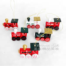 6 pcs painted wood train head christmas tree decorations new year decoration for home window xmas